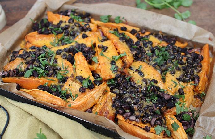 Patate douce aux haricots noirs