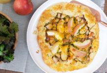 Tarte aux pommes, poulet et cheddar | Une recette automnal