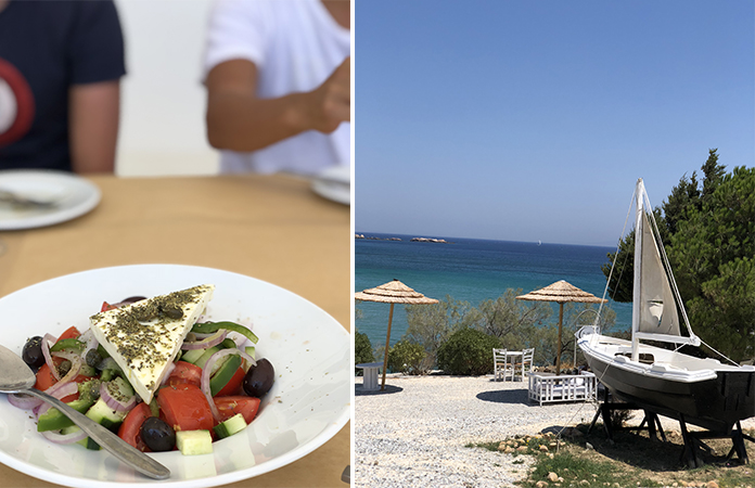 The Cliff restaurant Paros