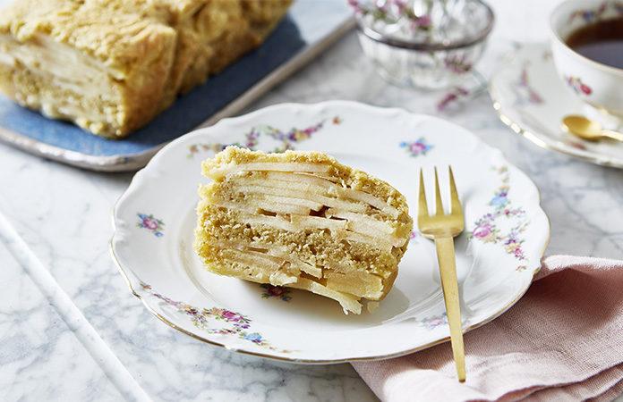 Cake aux pommes basses calories | Une recette de grand-mère en vidéo revisitée avec des édulcorants