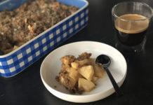 Crumble aux pommes et poires