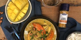 Curry de poulet aux oignons et potimarron