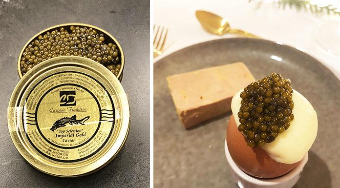 Œufs toqués à la mousse de pomme de terre et caviar