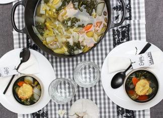 Soupe de légumes vitaminée et son toast gratiné à l'Appenzeller