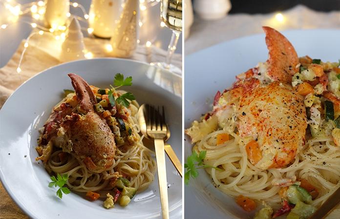 Spaghettis au homard