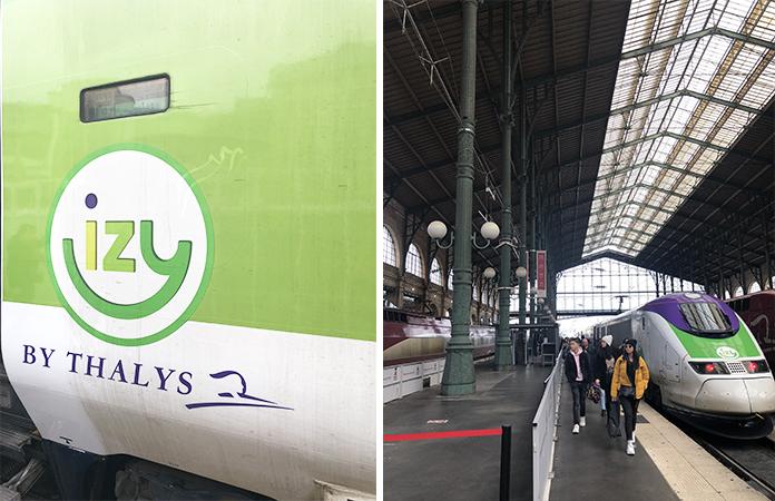Paris Izy train