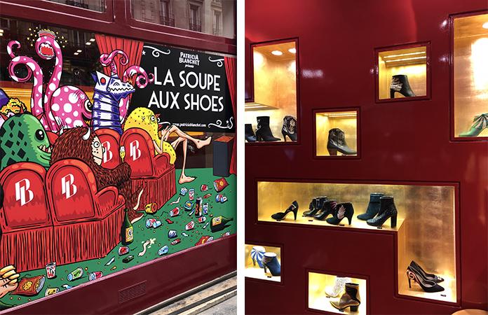 Patricia Blanchette. Des chaussures de filles colorées Paris