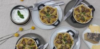 Conchiglioni aux boulettes d'Etivaz