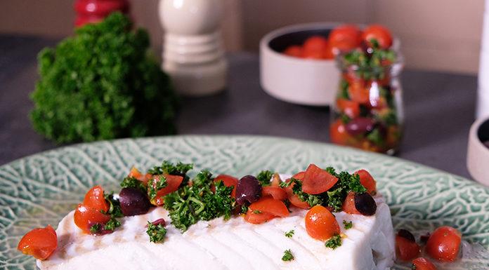 Poisson vapeur et sa sauce fraicheur tomate olive   Une recette réalisée au four vapeur