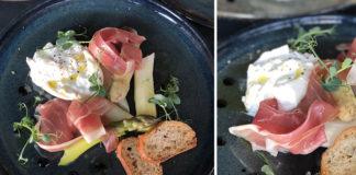 Asperges, burrata et jambon cru | Ganda, un jambon belge sans nitrate
