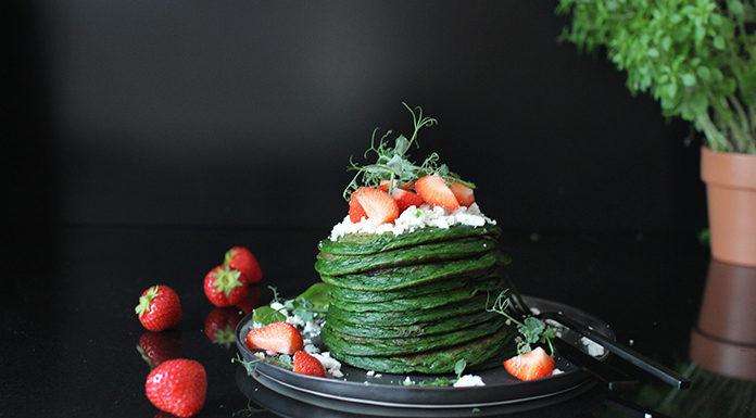 Pancakes aux épinards | La recettes des crêpes vertes