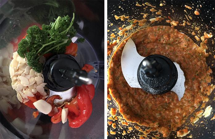Sauce au poivron pour seiche