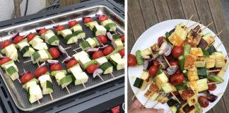 brochette halouli legumes plancha