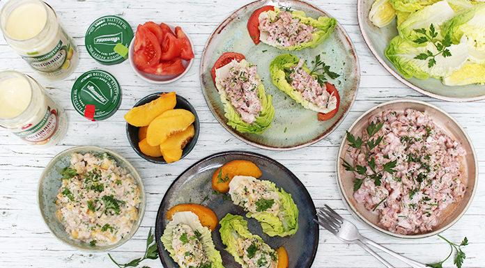 Thon et crevettes mayo en wrap de salade | 2 recettes tradition