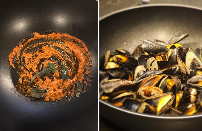 Moules au curry rouge | Une recette aux saveurs asiatiques