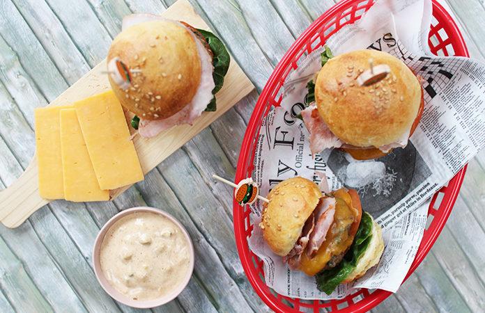 Mini burger au cheddar