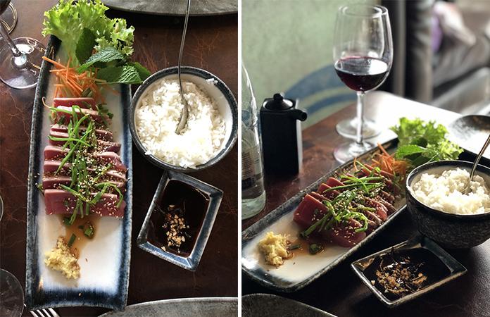 Tataki de thon rouge