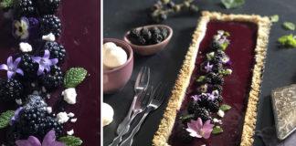 Tarte aux mûres du jardin   Une recette d'août