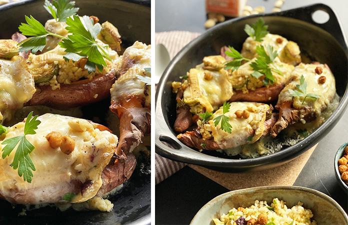 Patate douce gratinée au Herve